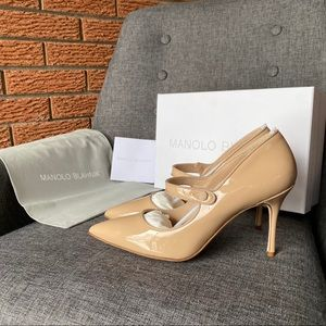 NWB MANOLO BLAHNIK CAMPARINEW Patent Leather Heels